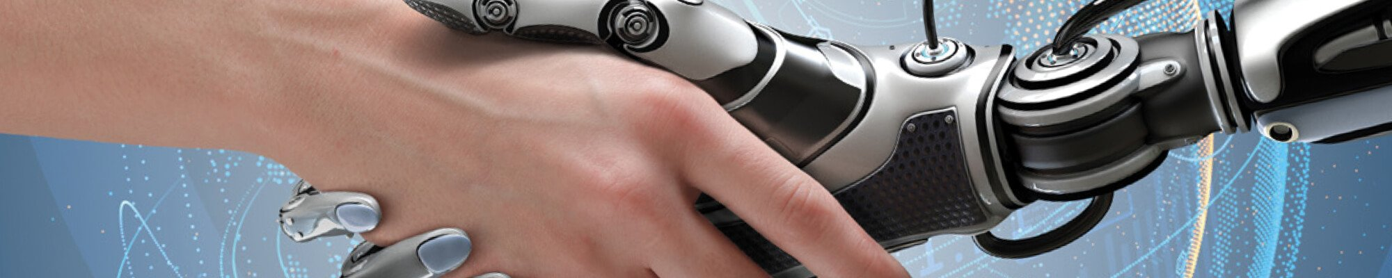 design for values in artificial intelligence: human hand shaking robot hand