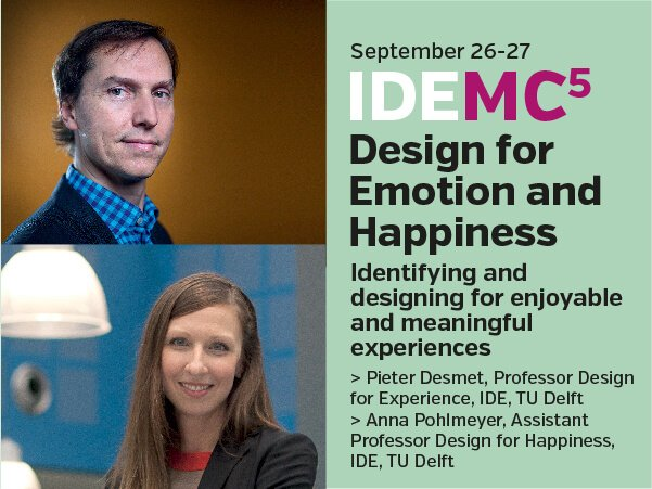 Design for emotions and happiness masterclass