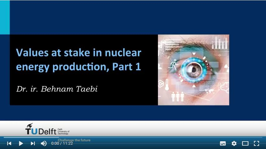 The Values at Stake in Nuclear Energy Production (Behnam Taebi, 2014)