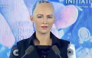 Robot Sophia, who got citizenship