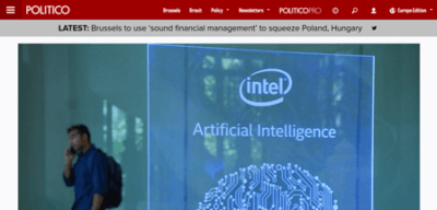 screenshot from the politico website