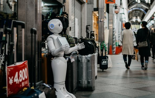 Robot in a Japanese street