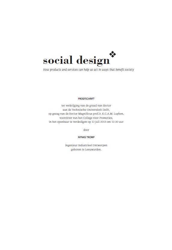 social design dissertation Nynke Tromp