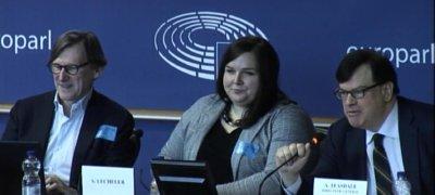 Jeroen van den Hoven speaking at the European Parliament