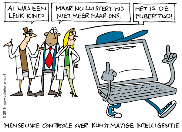 Cartoon on responsible AI design