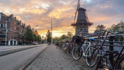 Bicyle in Dutch city