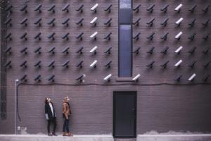 privacy in the 21st century... lots of security camera's on a building